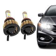 Kit Lâmpada Ultra Led Headlight H16 6000K 12V e 24V Efeito Xenon