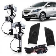 Kit Vidro Elétrico Dianteiro Sensorizado Gm Onix e Novo Prisma 4 Portas 2013 a 2016