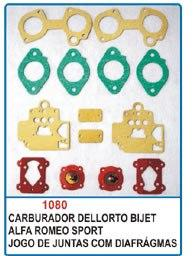 Kit de reparo do carburador Dellorto Bijet duplo para Alfa Romeu  - Bunnitu Peças e Acessórios