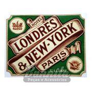 Adesivo modelo - Hotel Londres, New York, Paris - St Lazare