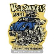 Adesivo modelo Volkswagens Rule - Detroit iron takes gas !