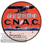 Adesivo modelo - C.N.A.C - Etiqueta para mala