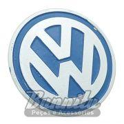 Emblema vw azul do centro de calota modelo Speed para VW Fusca, Brasília e Variant