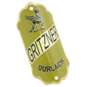 Emblema plaqueta para bicicleta modelo Gritzner Durlach