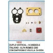 Kit de reparo do carburador para Alfa Romeu 2300 Solex duplo