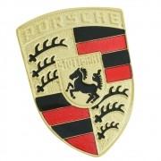 Emblema escudo dourado para Porsche