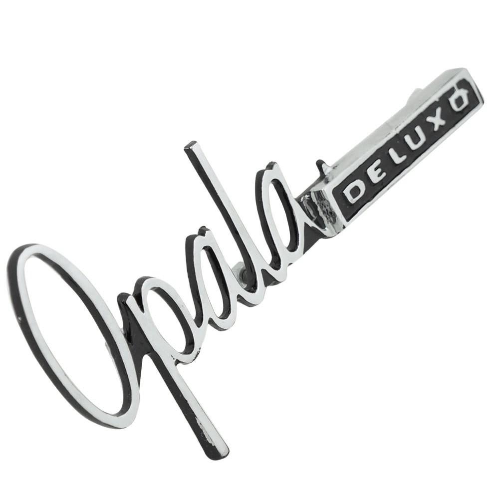 Emblema assinatura para painel do porta luvas do GM Opala Deluxo 1969 à 1972  - Bunnitu Peças e Acessórios