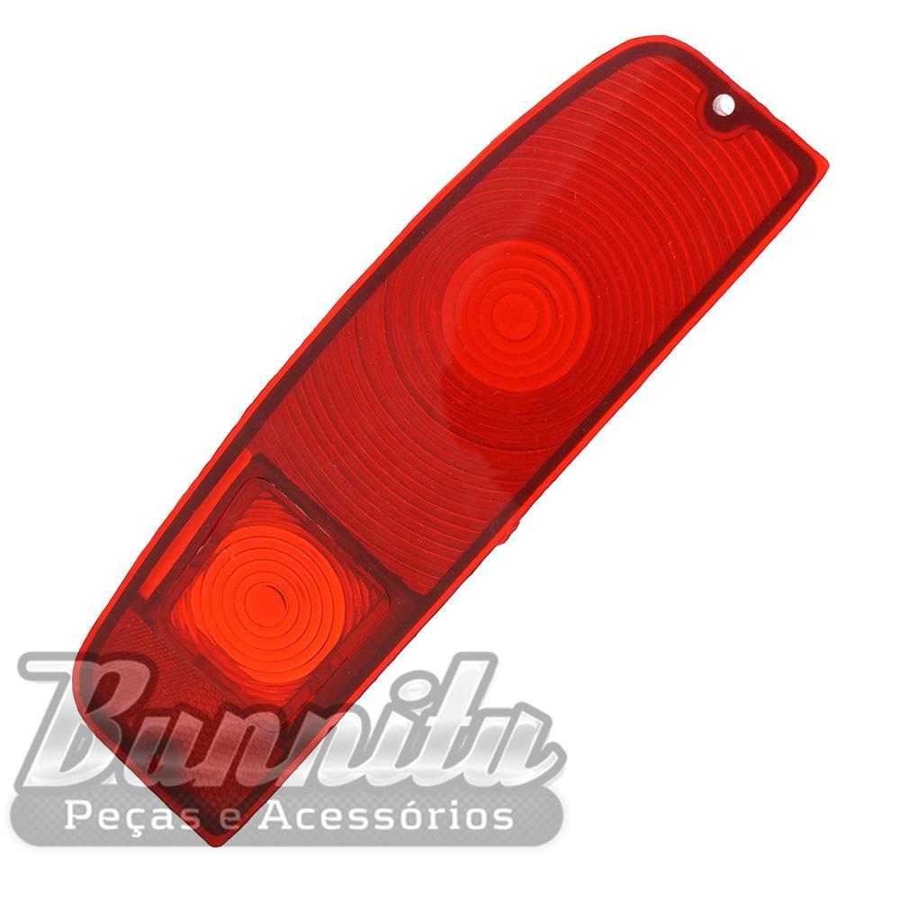 Lente acrílica da lanterna traseira sem ré para Ford F100 1975 à 1979 e Pampa 1981 à 1988  - Bunnitu Peças e Acessórios