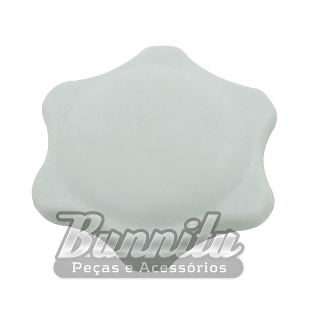 Manopla do ar quente na cor cinza para VW Fusca, Kombi e Karmann ghia  - Bunnitu Peças e Acessórios