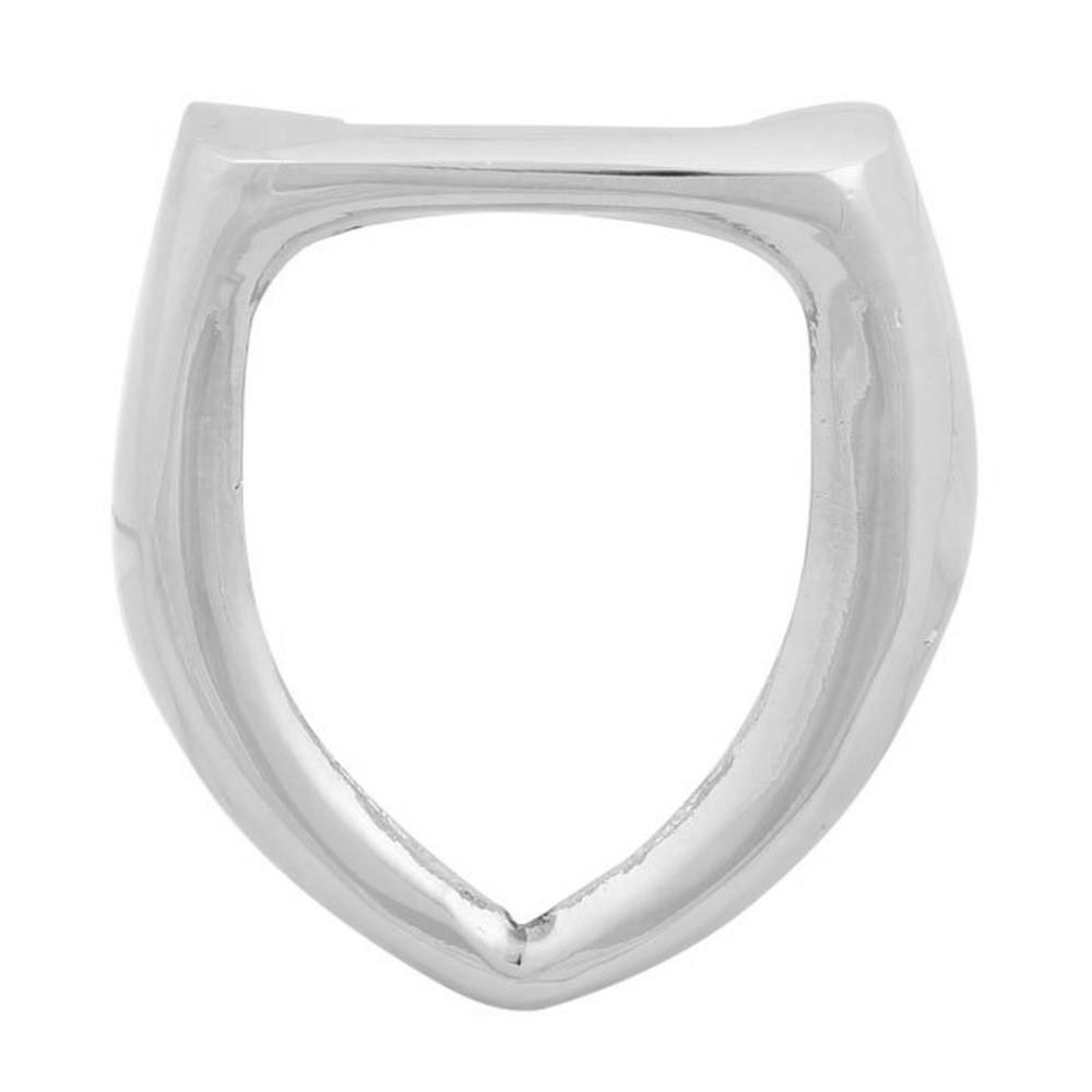 Moldura cromada modelo lisa do emblema de brasão para capo do VW Fusca  - Bunnitu Peças e Acessórios