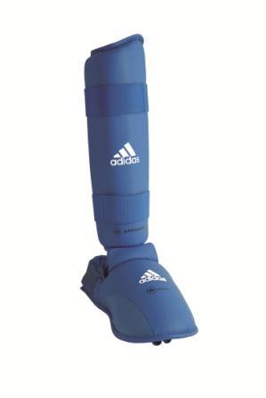 Caneleira com Protetor de Pé adidas Karatê WKF Azul