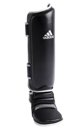 Caneleira de Muay Thai e Kickboxing adidas - Preta/Branca
