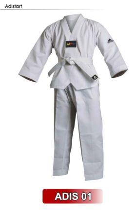 Dobok Taekwondo Infantil adidas Adistart com selo WTF - gola branca