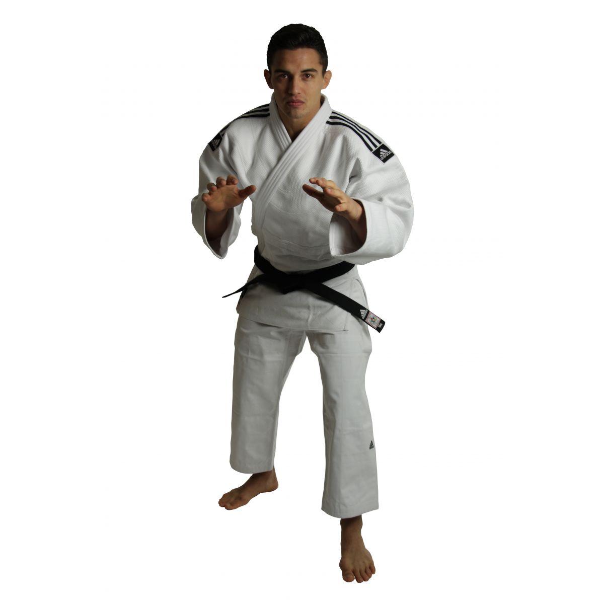 Kimono Judô Champion II Adidas com novo selo eletronico da IJF