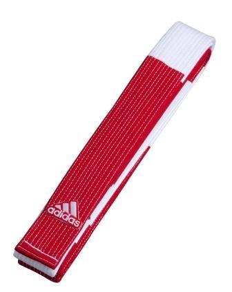 Faixa de Judô adidas - Coral 6º Dan Vermelha