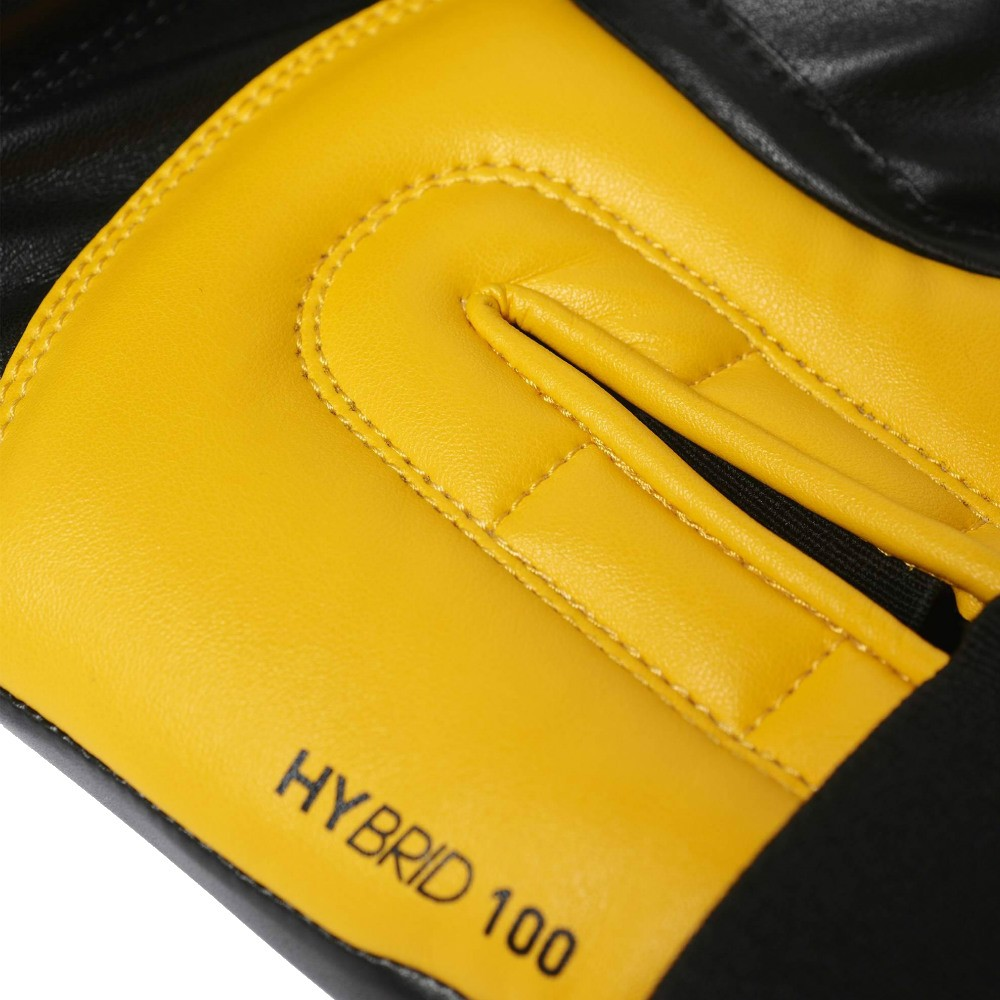 Luva de Boxe adidas Hybrid 100 Preta/Amarela