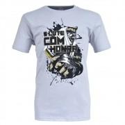 Camiseta MKS #LuteComHonra Cinza Gelo