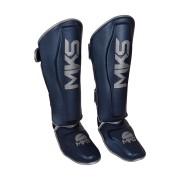 Caneleira de Muay Thai e Kickboxing MKS Energy V2 Metalic Blue