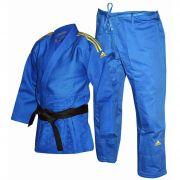 Kimono Judô adidas J990 Millenium - Azul/Dourado