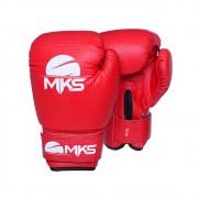 Kit Luva Boxe Prospect Mks Combat Vermelha com Bandagem Preta