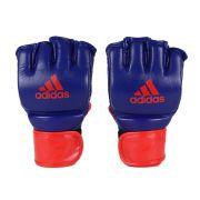 Luva de MMA adidas em Couro legítimo - Azul/Vermelho