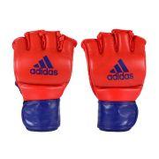 Luva de MMA adidas em couro legítimo Vermelha/Azul