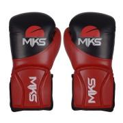 Luva Manopla MKS Combat Coach Sparring Vermelha/Branco