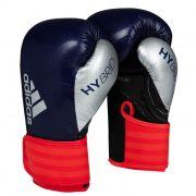 Luva de Boxe adidas Hybrid 65 Azul/Vermelha - Dedão Prateado