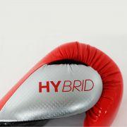 Luva de Boxe adidas Hybrid 65 Vermelha/Azul - Dedão Prateado