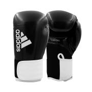 Luva de boxe e kickboxing adidas Hybrid 65 V2 Black White
