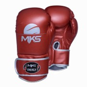 Luva de Boxe MKS Energy V2 Metalic Red