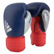 Luva de Boxe Muay Thai adidas Hybrid 200 Black Blue Red & Silver
