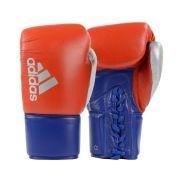 Luva de Boxe Muay Thai adidas Hybrid 400 Pro Lace Vermelho/Azul