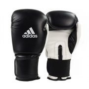 Luva de Boxe e Muay Thai adidas Power 100 Colors - Preta/Branca