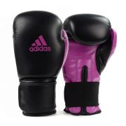 Luva de Boxe e Muay Thai adidas Power 100 Colors - Preta/Rosa