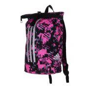 Mochila adidas Karate Camuflada Rosa/Prata - 10 Litros