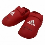 Protetor de Pé para Caneleira adidas Karate WKF Vermelho