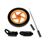 Roda De Exercicios Body Sculpture Power Com Pedais Preto/Laranja