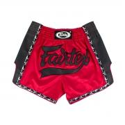 Shorts Muay Thai Fairtex BS1703 Fairtex Vermelho/Preto