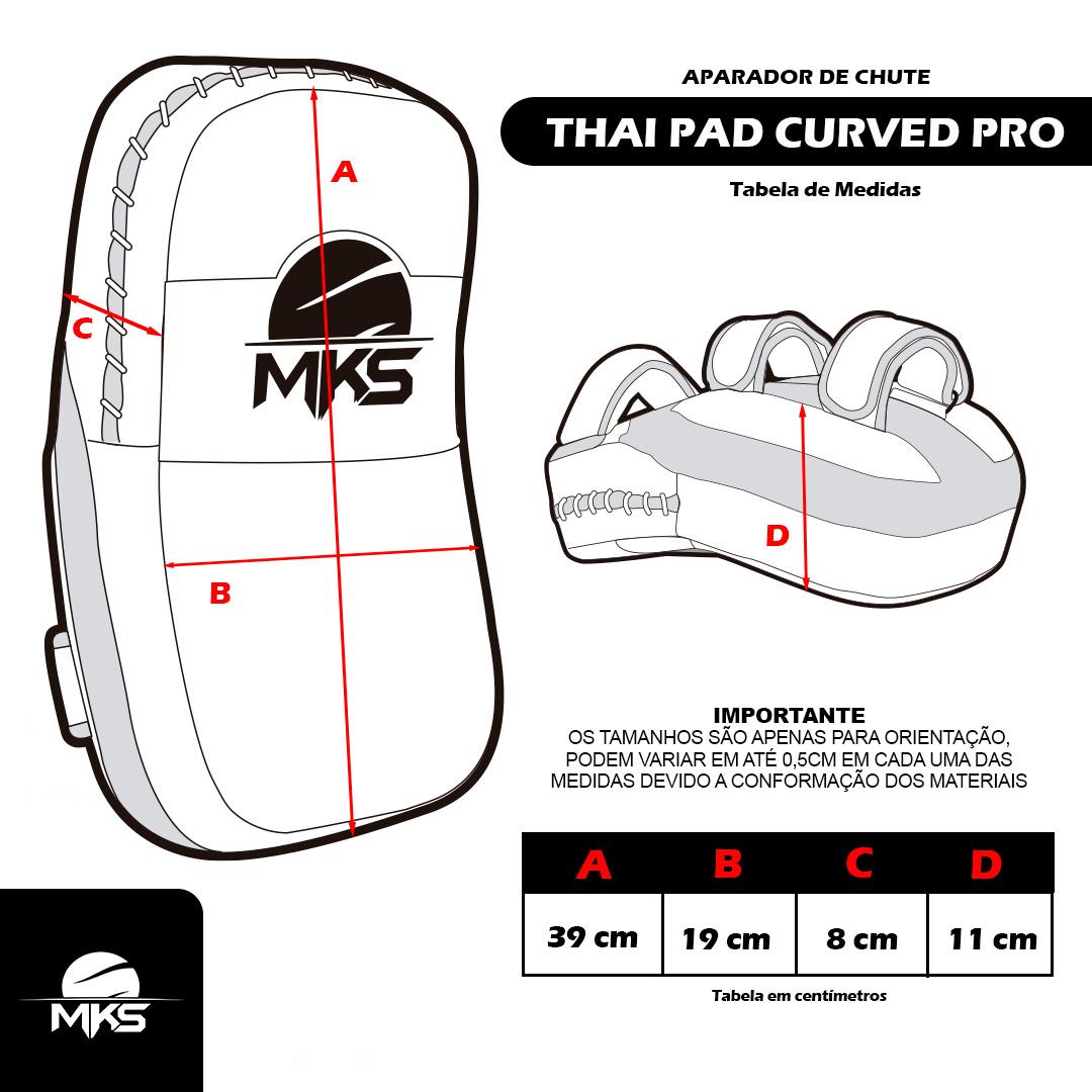 Aparador de Chutes MKS Combat Thai Pad Curved - Unitário