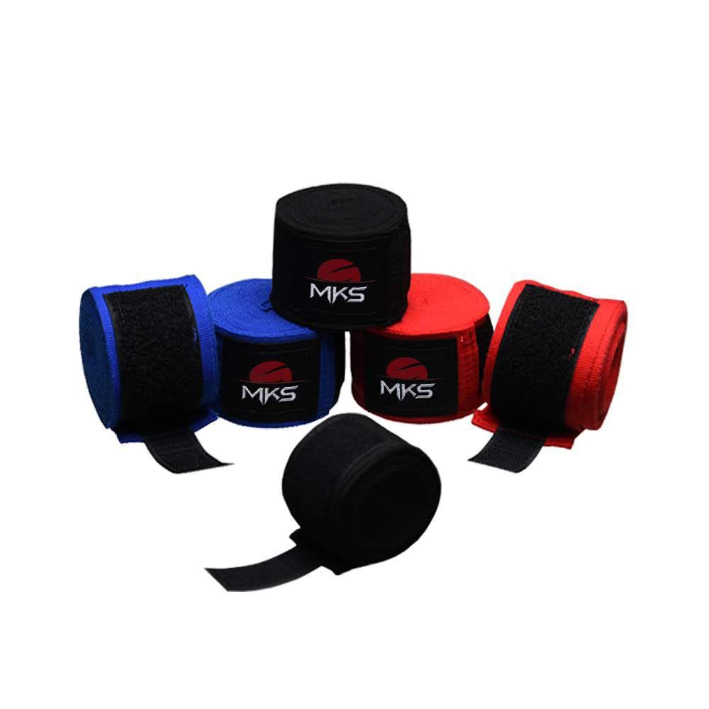 Bandagem Elástica MKS  - Pack 3 Pares Coloridas + Saco para lavagem