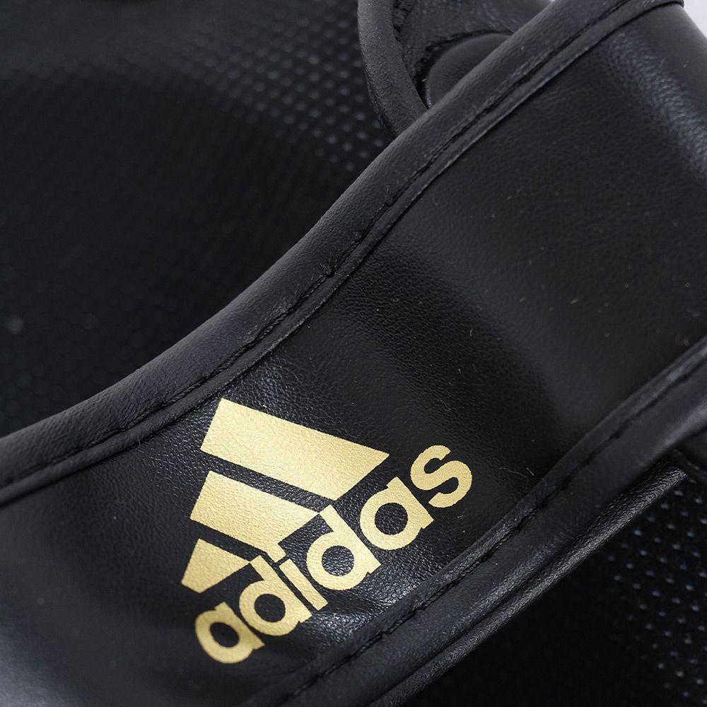 Caneleira com protetor de pé adidas Speed Super Pro Preto/Dourado
