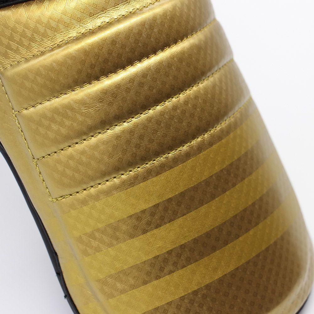 Caneleira com protetor de pé adidas Super Pro Preto/Dourado