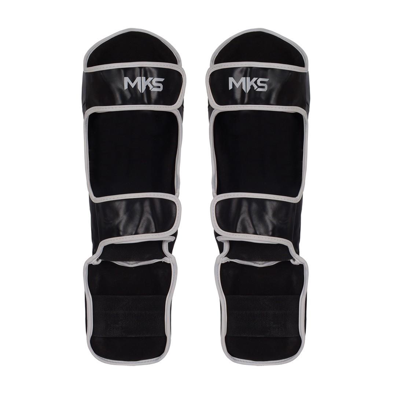Caneleira de Muay Thai e Kickboxing MKS Prospect Preto/Branco