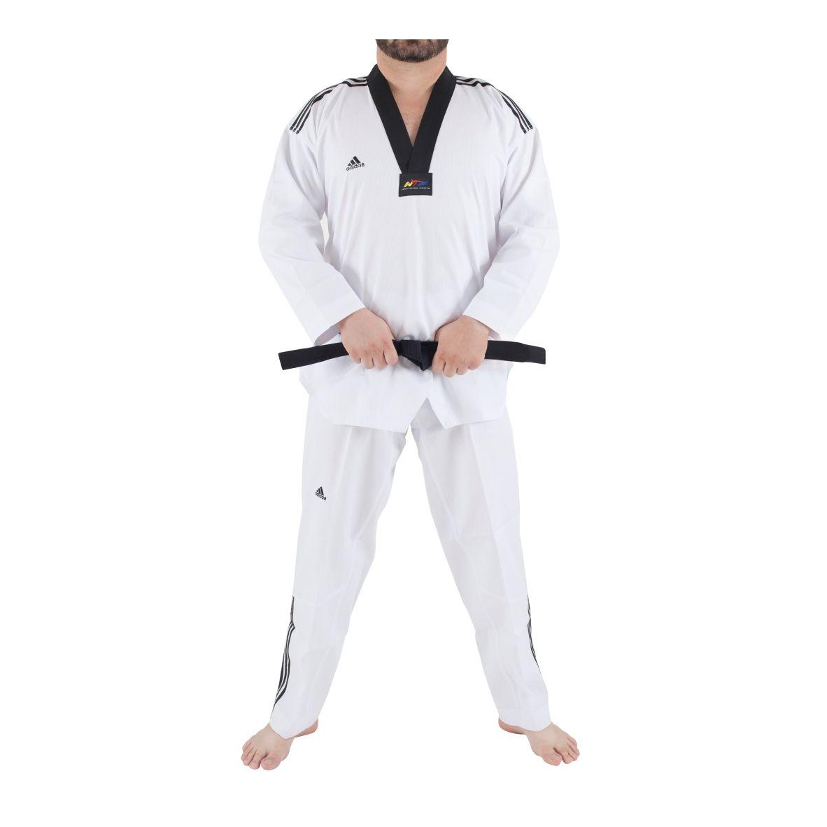Dobok Taekwondo adidas Adiclub com selo WTF - gola preta