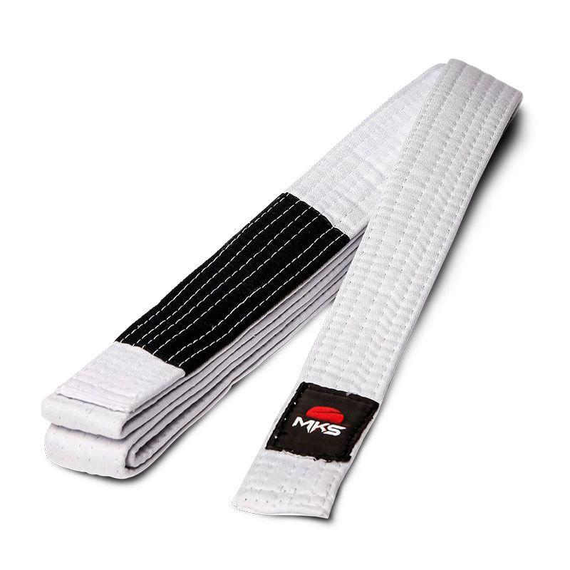 Faixa de Jiu-Jitsu MKS com ponta Preta 280cm