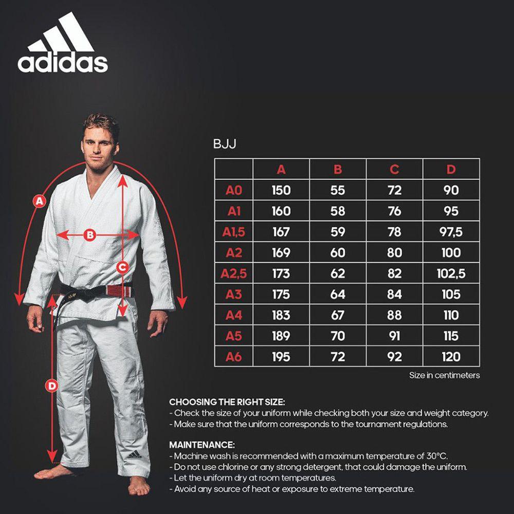 Kimono adidas Jiu Jitsu Contest JJ430 Azul com Listas Amarelas 2.0