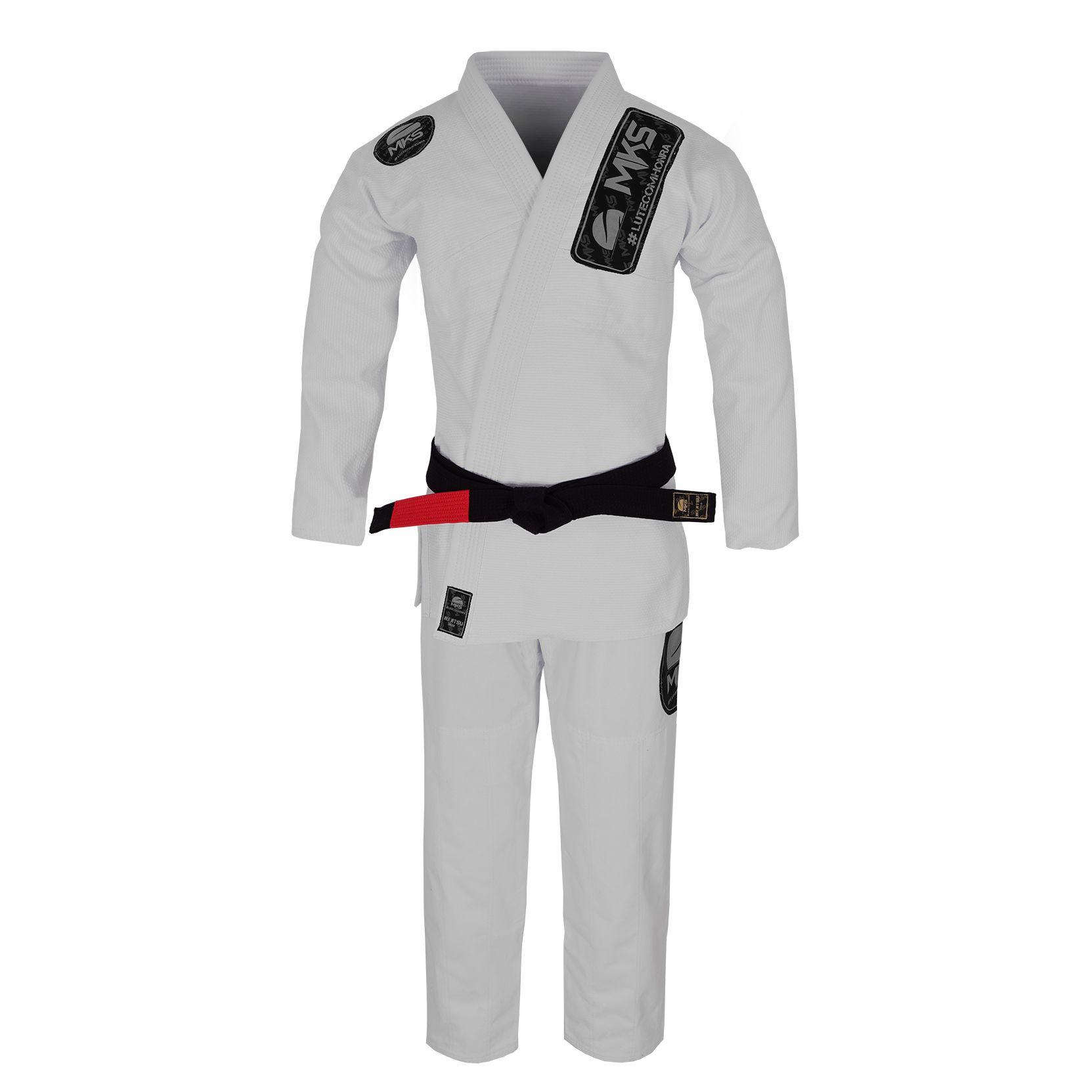 Kimono Jiu Jitsu MKS Light (Silver Edition) Branco