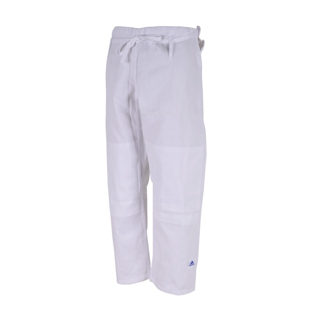 Kimono Judô adidas Club J350 Branco/Azul Trançado 350g/m2