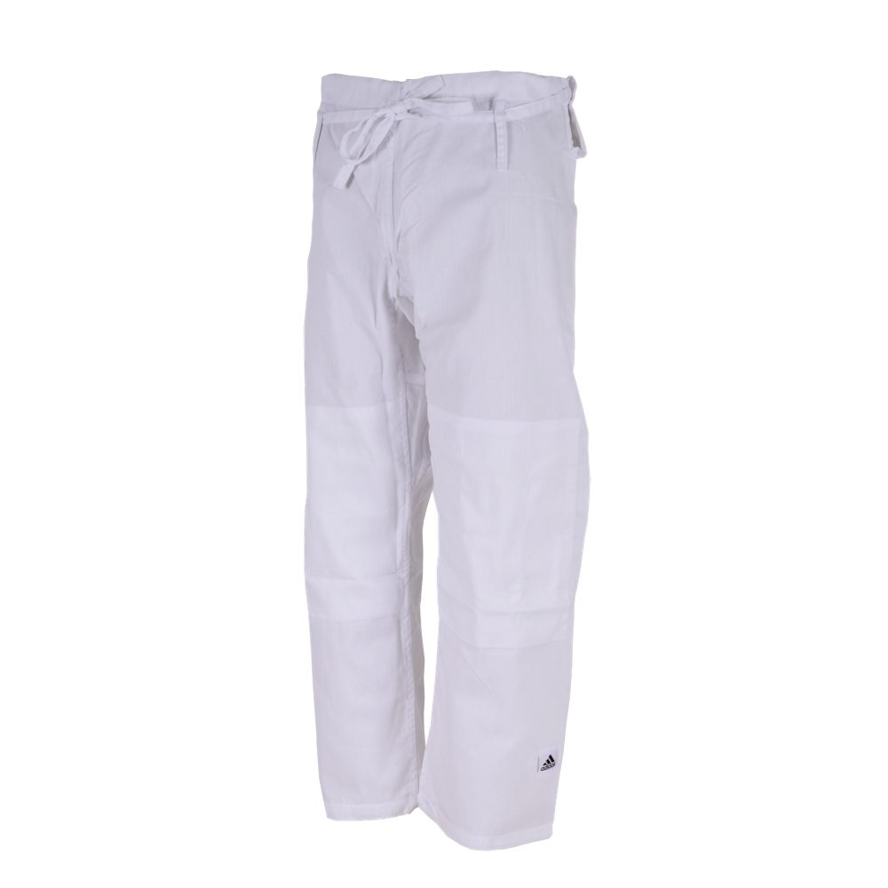Kimono Judô adidas Club J350 Branco/Preto Trançado 350g/m2